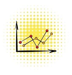 Arrow graph icon comics style vector image