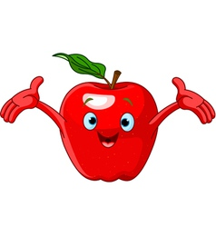 Cartoon apple character vector