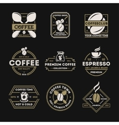 Coffee shop vintage isolated label set vector image vector image