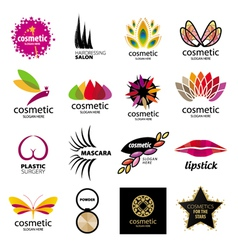 Collection of logos for cosmetics vector