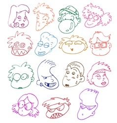 Comics characters set vector