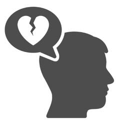 Divorce thinking man flat icon vector