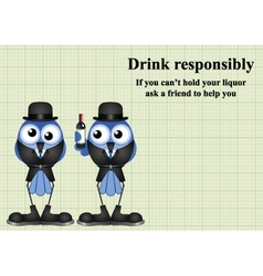 Drink responsibly message vector image vector image