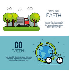 Eco green energy infographic design vector