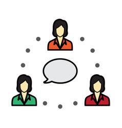 Flat color employee icon vector