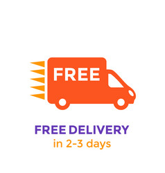 free delivery icon on white vector image vector image