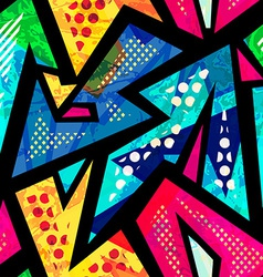 Funny geometric seamless pattern vector