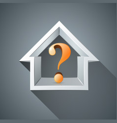 House question abstract 3d icon business vector