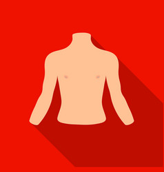 Human back icon in flat style isolated on white vector