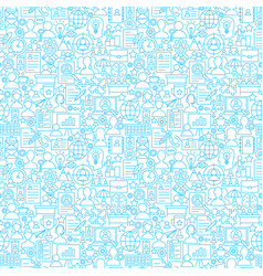 Human resources white line seamless pattern vector