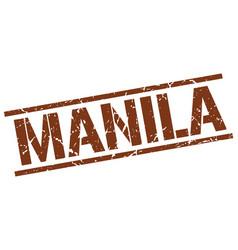 Manila brown square stamp vector