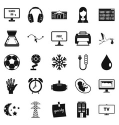 Medical application icons set simple style vector