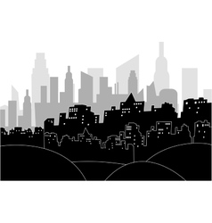 Modern city by night vector image vector image