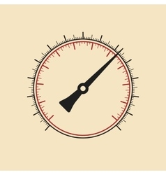 Modern manometer without numbers vector