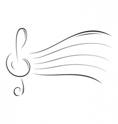music sketch vector image