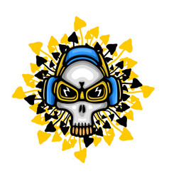 music theme skull vector image vector image