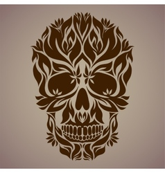 Ornamental art of a skull vector image