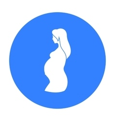 Pregnant icon in black style isolated on white vector image vector image