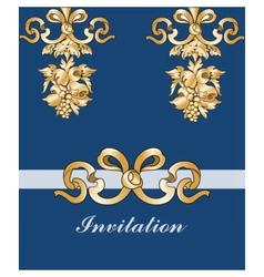 Royal floral classic ornament invitation vector