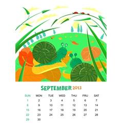 September vector image