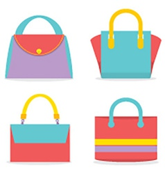 Set of colorful women bags vector