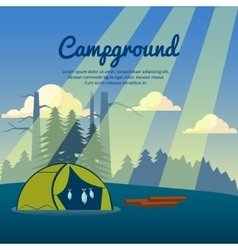 Summer camp poster vector image