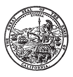 The great seal of the state of california vintage vector
