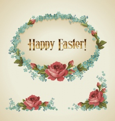 vintage easter label vector image