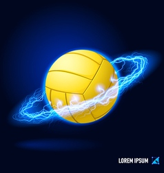 Volleyball high voltage vector image vector image