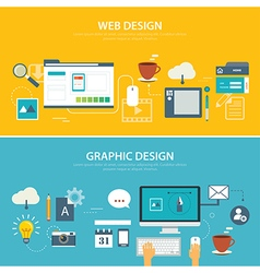 web and graphic banner flat design vector image vector image