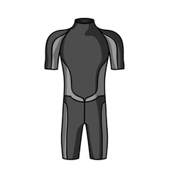 Wetsuit icon in monochrome style isolated on white vector image vector image