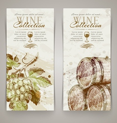 Wine and Winemaking - Vintage vertical banners vector image vector image