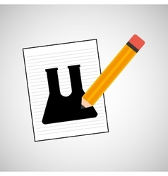 Research chemical test tube lab drawing icon vector