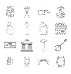 medicine finance art and other web icon in vector image