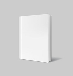 Blank book cover over gray background vector