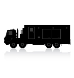 Silhouette of a truck on a white background vector