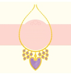 Necklace With Heart vector image