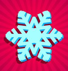 3D christmas snowflake vector image