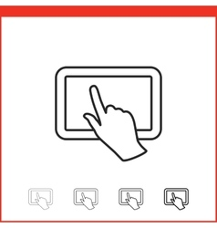 Icon of tablet pc vector