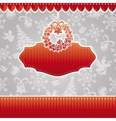 Abstract christmas ornate cute frame vector