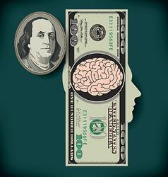 Money Brain Silo vector image