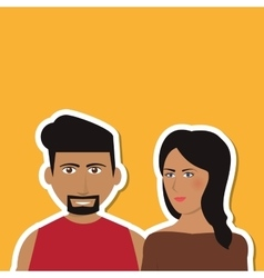 Cartoon couple design  people and relationships vector