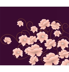 Abstract composition with flowers vector image vector image