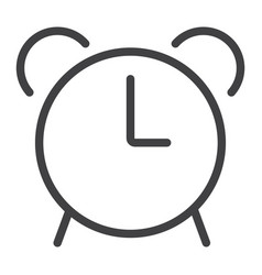 alarm line icon web and mobile clock sign vector image vector image