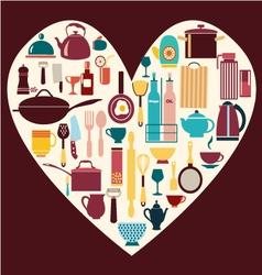 all kitchen goods restaurant icon kitchenware vector image