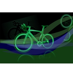 bicycle background vector image vector image