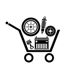 car parts store vector image vector image