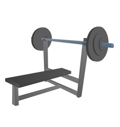 Cartoon bench press vector