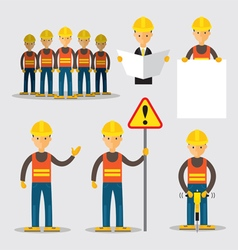 Construction Worker People Set vector image vector image