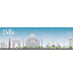 Delhi vector image